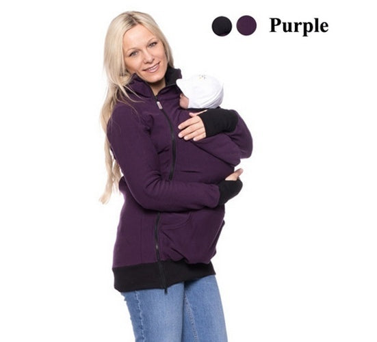 Baby Carrier Jacket Kangaroo Winter Maternity Outerwear Coat For Pregnant Women Thickened Pregnancy Wearing