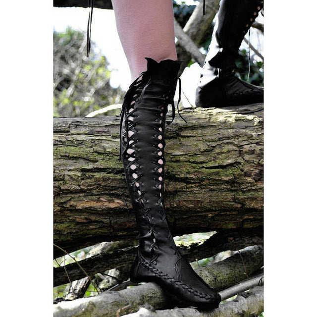 Autumn Winter Women Boots Sexy Ladies Lace Up Fashion Boots Size Sexy Thigh High Boots For Women Western Style