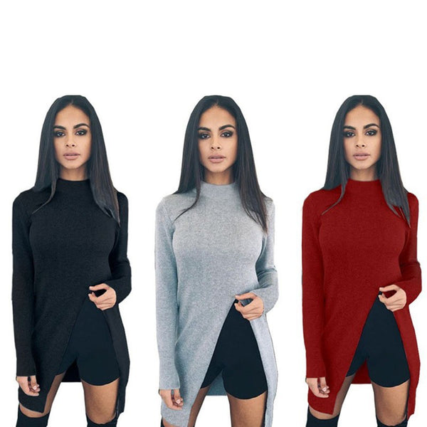 Lady Fashion Cotton Knitwear Women Casual Sweater Knitted Plus Size Pullover Sweater