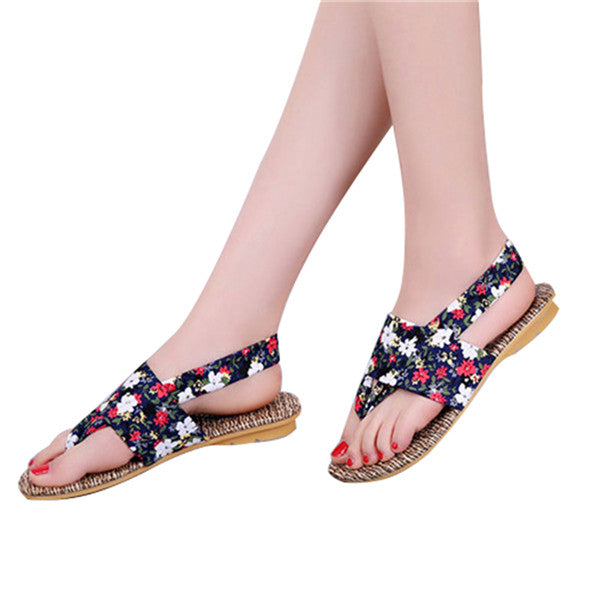 Women Flip Flops New Leisure Slip on Women Shoes Flower Sandals