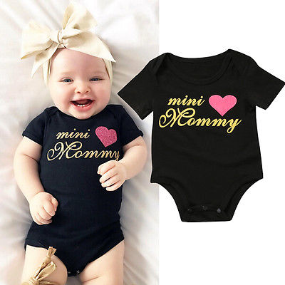 Newborn Infant Baby Boys Girls Romper Playsuit Jumpsuit Clothes Outfits