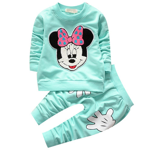 Baby Clothes Long Sleeve Toddler Kids Costume Cartoon Top+Pants 2pcs Baby Girls Clothing Set Children's Set