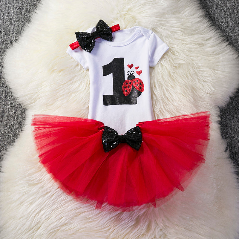 65b9f6653 Little Girl Baby Girls Clothing Sets Infant Princess Party Wear Dress 1st  Birthday Outfits Suits Cute ...