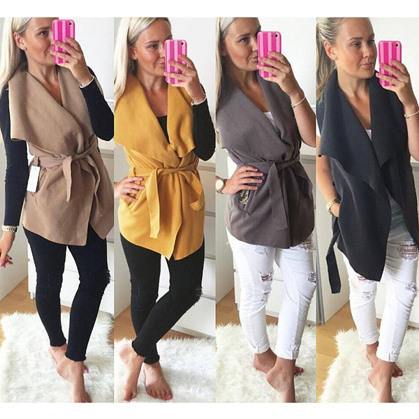 Women Winter Coat Series Autumn Outwear Fashion Women Overcoat Wool Blend Fabric Vests