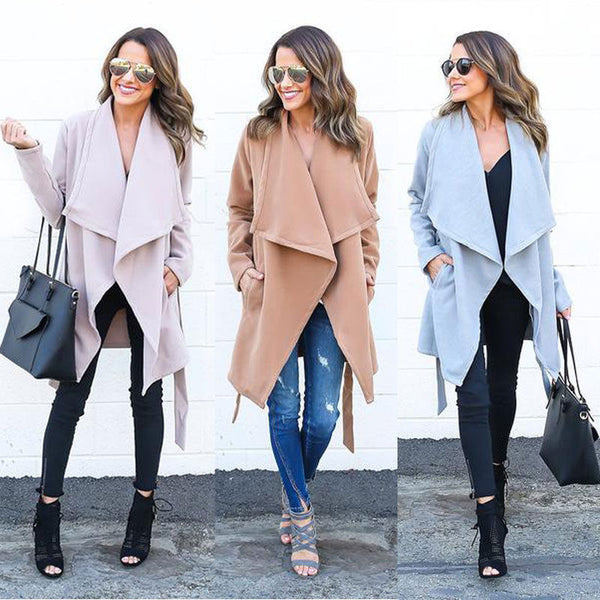 Women Warm Fashion Hooded Long Coat Jacket Windbreaker Parka Outwear