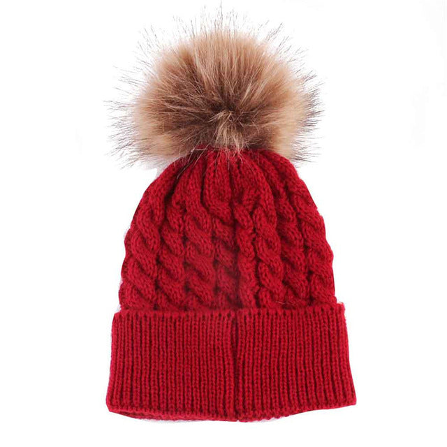 Winter Baby Kids Hat for Girl Boy Cap Cute Hats Knitted Wool Autumn Newborn Children Hats