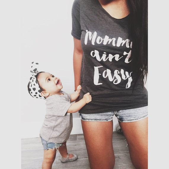 Mommin' Ain't Easy tshirt Mom Life Gifts Womens Tee