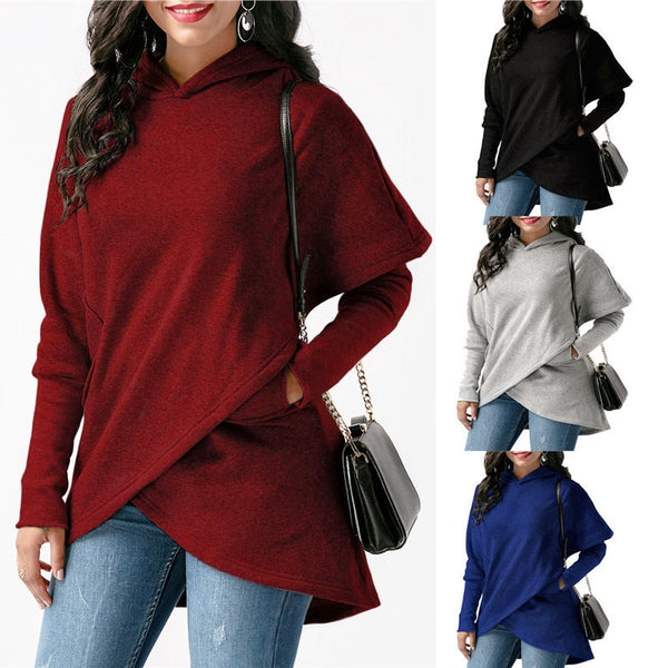 Women Long Sleeve Pullover Top Hoodie Sweater