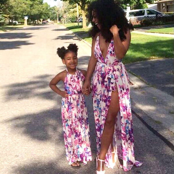 Mother Daughter Matching Floral Print Sundress