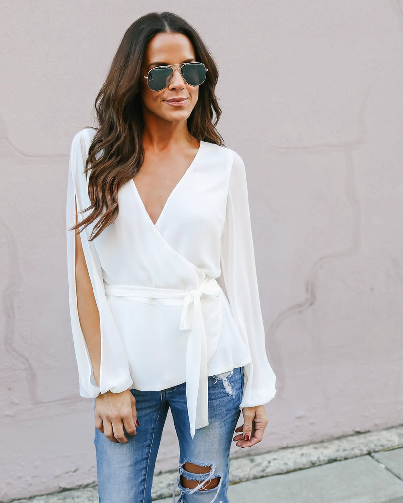 e1154ac0cc4 Fashion Ladies Casual Tops Shirt Women Loose V Neck Lace Up Blouses Solid  Long Sleeve Blouse