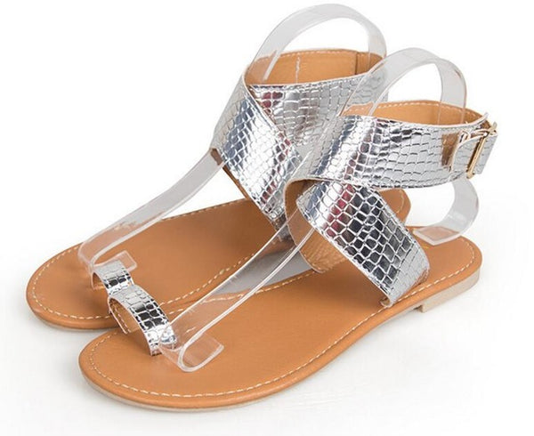 Ladies Summer Sandals Women Sling Back Flats
