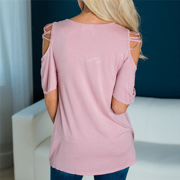 Fashion Big Size T-shirt Female Solid O Neck Short Sleeve Long Casual Tee Shirt