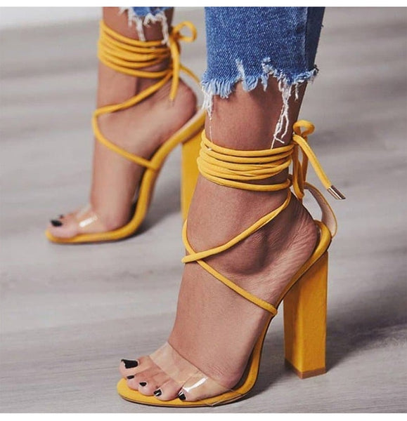 Women High Heel Casual Sandal Shoes