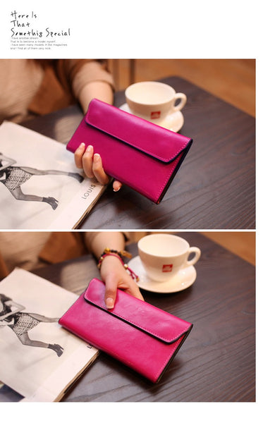 Envelope Clutch Purse Mini Leather Ladies Hand Bags