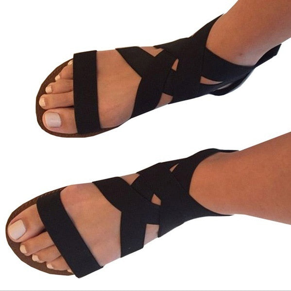 Women Casual Gladiator Flat Rome Sandals