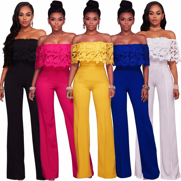 Fashion Women Lace Hollow Out  Jumpsuits & Rompers