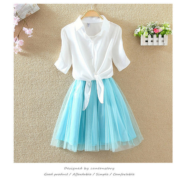 2 piece Summer Dress Suit Twin Sets