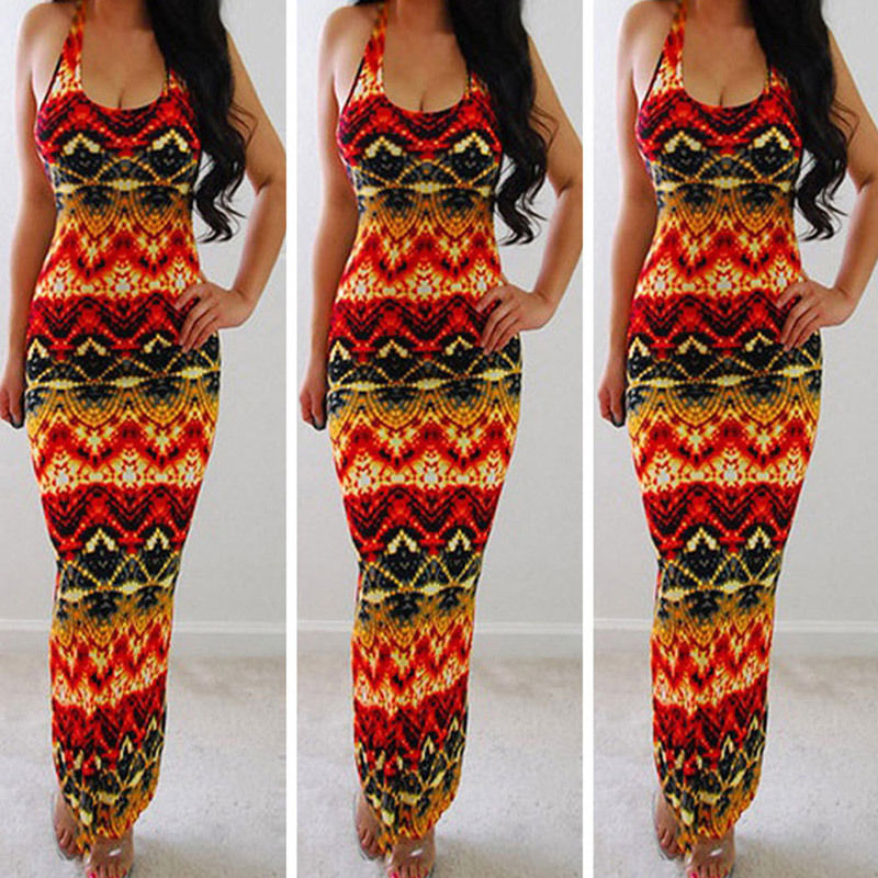 Women Summer Boho Long Maxi Sundress