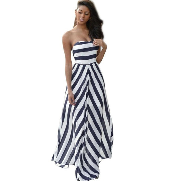 Women Summer Vintage Boho Long Maxi Evening Party Beach Sundress