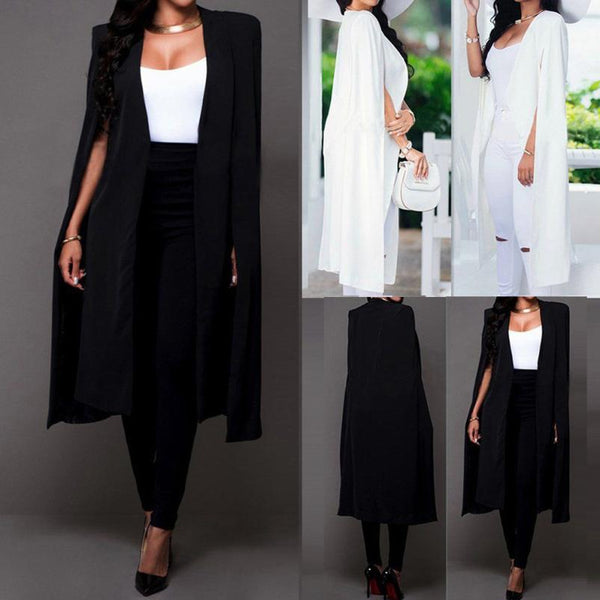Loose Long Cloak Cape Cardigan Outwear Trench Blazer