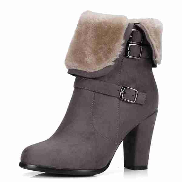 Plush Women Warm Ankle Boots