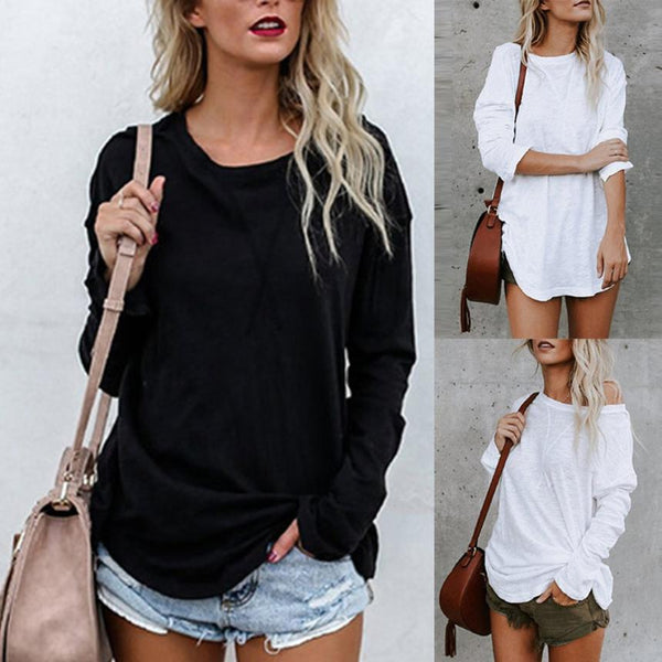Women's Long Sleeve Chic Fashion Top T-shirt