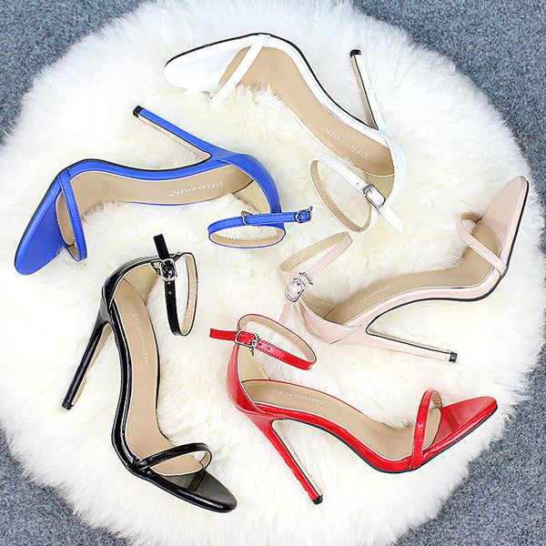 Sexy Women  Peep Toe Stiletto High Heels Sandal Shoes
