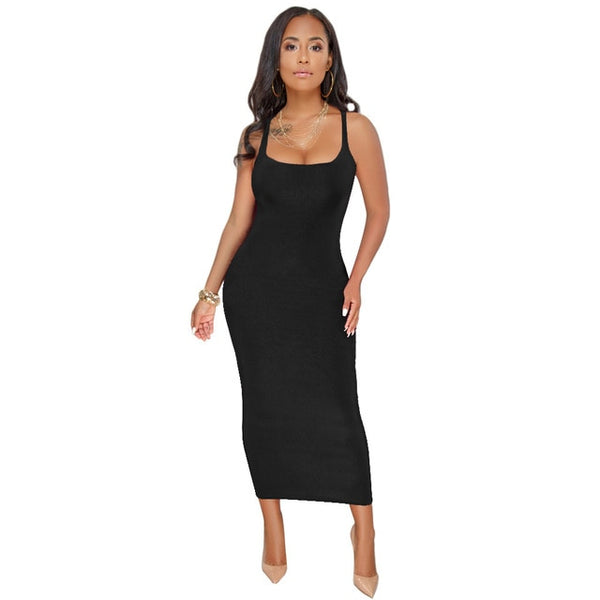 Maxi Bodycon Casual Women Tank Dress
