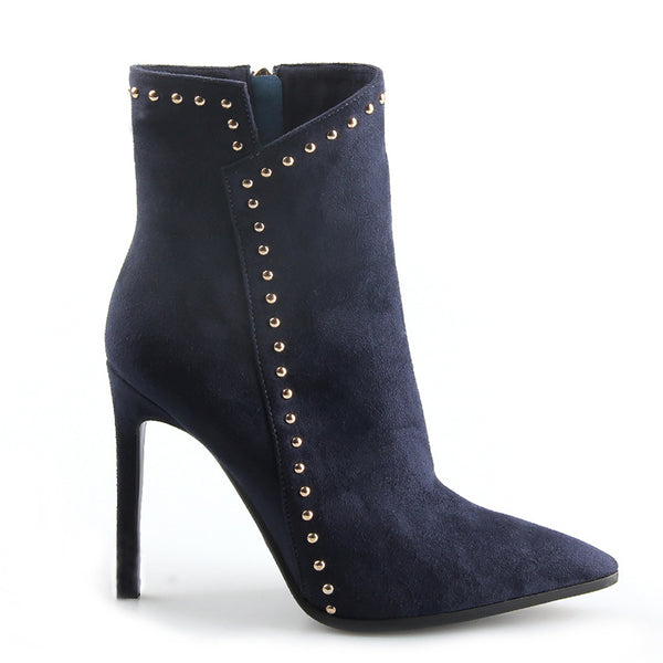 Autumn Winter Plush Rivet Boots