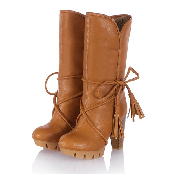 Inside Out Fringe Womens Boots