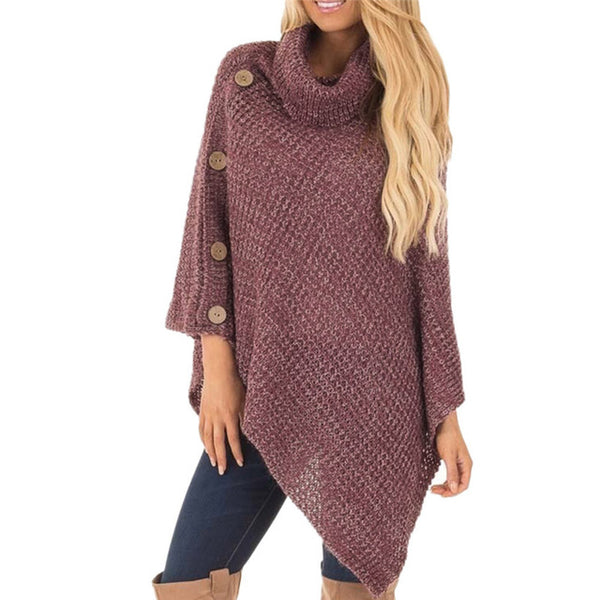 Autumn Winter Long Sleeve Turtleneck Knitted Sweater