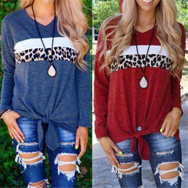 Fashion Leopard Print  Women's Shirts