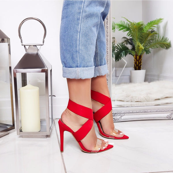 Fashion Pointed Toe Open Thin High Heels Sandals Gladiator Stiletto Shoes