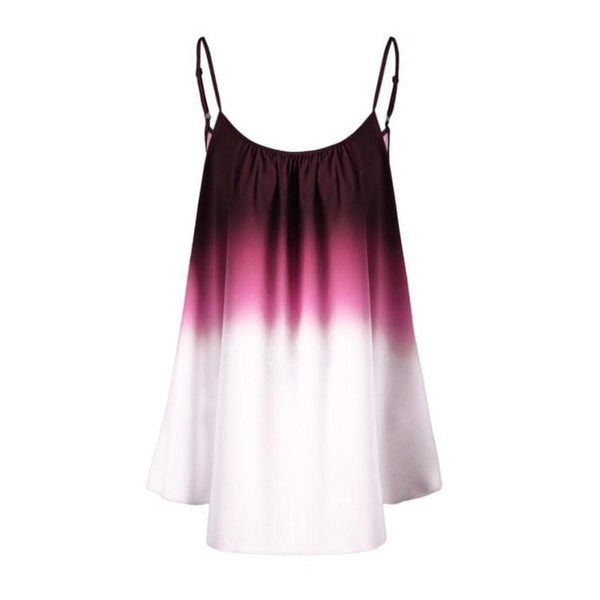 Women Sleeveless Ombre Cami Blouses