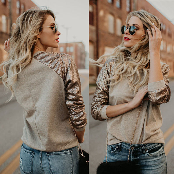 Women Long Sleeve Pullover Solid O-Neck  Casual Sweater