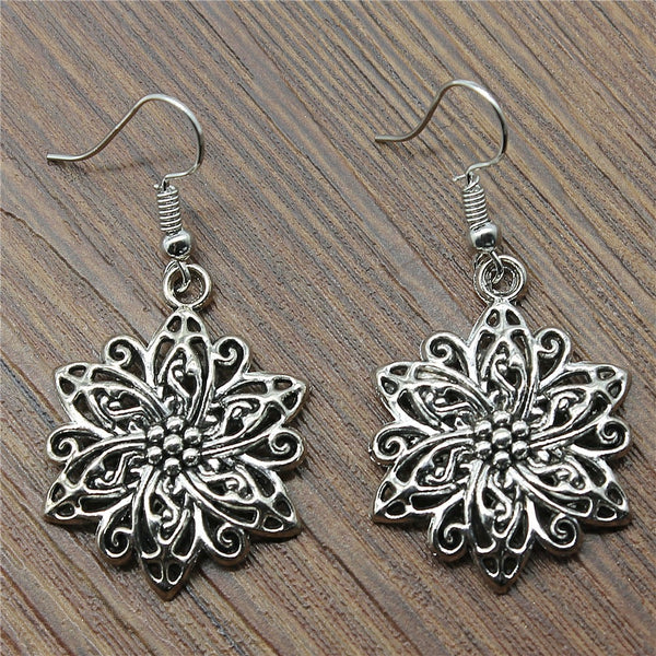 Flower Drop Fashion Dangle Earrings