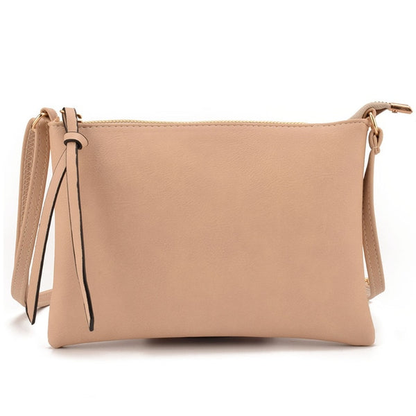 Women Vintage Slim Thin Messenger Envelope Crossbody Handbag Purses