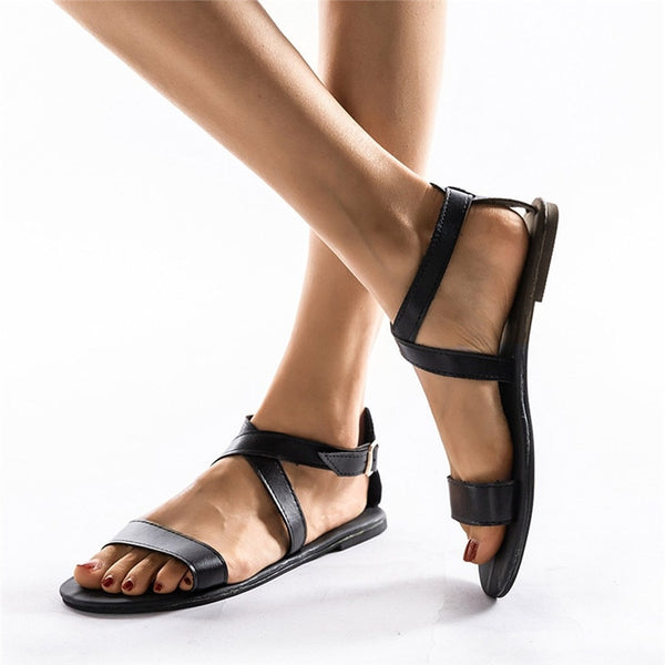 Slip-On Peep Toe Casual Woman Gladiator Sandals