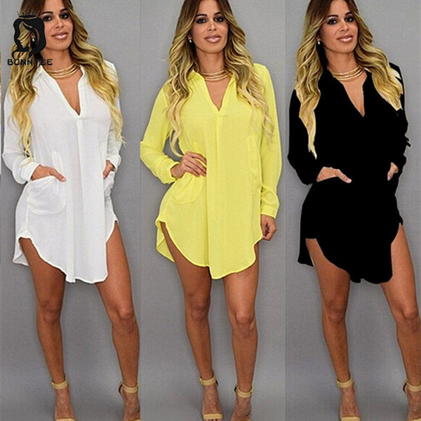 Casual Loose Chiffon Solid Blouse Tops Fashion Blouses Plus Size 5XL