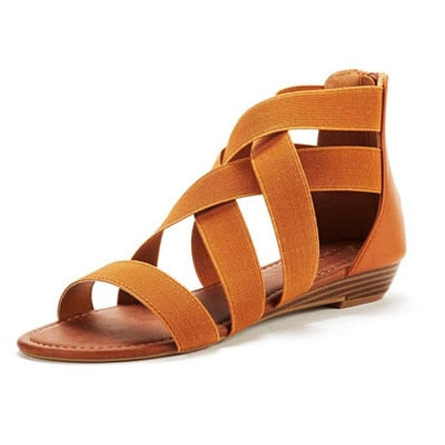 Women Roman Open Toe Flat Sandal Shoes