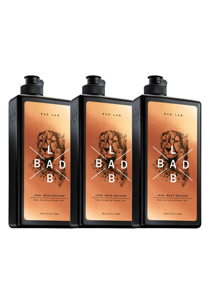 Bad Lab Sculpting Shower Gel (3 x 400ml)