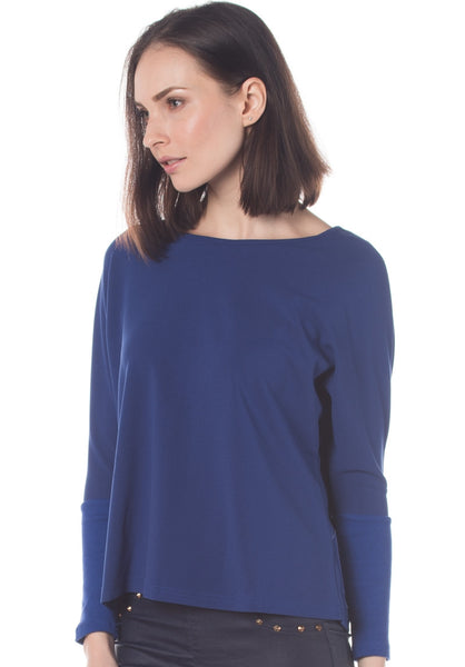 Boat Neck 3/4 Sleeves Top