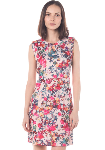 Floral Stretch Fitted Dress