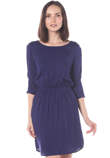 Slit Sleeves Soft Cotton Dress w Pockets