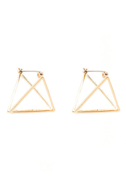 Deraine 3D Triangle Earrings