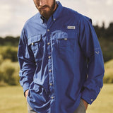 Columbia PFG Fishing Shirts | Embroidered with Brand Logo