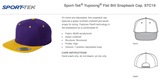 Yupoong Flat Bill Hat | Embroidered with Logo