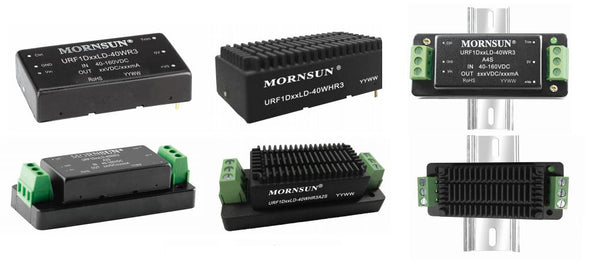 Mornsun's expanded range of Rail compatible R3 DC/DC converters up to 40W