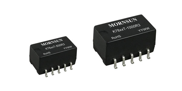 Mornsun NEW SMD Non-isolated .5A & 1A Switching Regulators  K78xxT-500R3&1000R3 Series