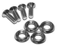 "Nickel Plated Screws (10-32 x 0.63"") with Steel Washers"